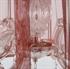 Draadkap organza rood 60 cm.