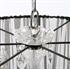 Draadkap organza zwart 60 cm