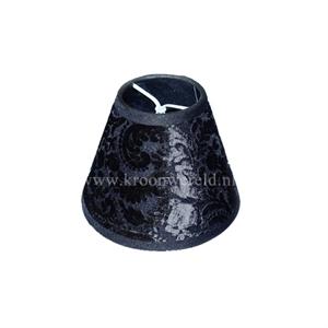 Afbeelding van Klemkapje flock zwart.