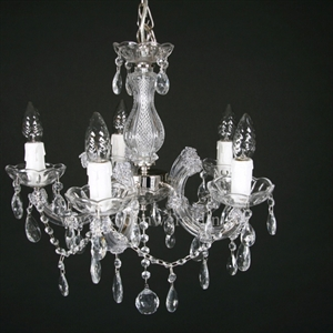 Afbeelding van Maria Theresa 5 lichts c arm chroom