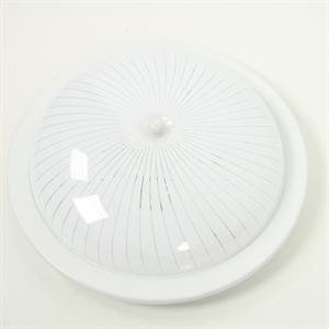 Afbeelding van Circo plafondlamp 30 cm wit glas met draai