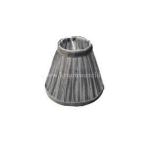 Afbeelding van Klemkapje organza zilver.
