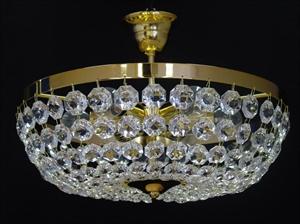 Afbeelding van Ceste plafondlamp 50 cm messing