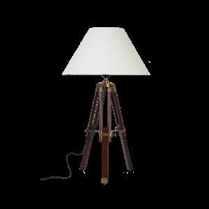 Afbeelding van Chiara tafellamp hout met messing beslag