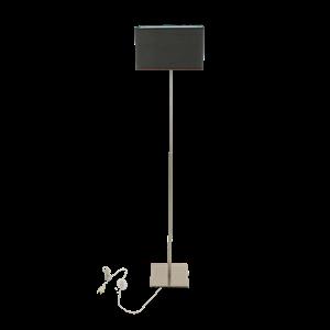 Afbeelding van Box vloerlamp met kap zwart