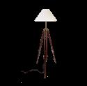 Afbeelding van Chiara vloerlamp hout messing beslag